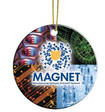 Round Full Color Ceramic Ornaments