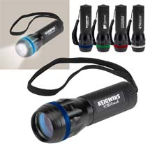 Aluminum Flashlight with Lighted Color Ring
