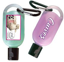 Anti-Bacterial Gel in .5 oz. Carabiner Bottles