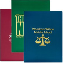 "9"" x 12"" Solid Color Presentation Folders"