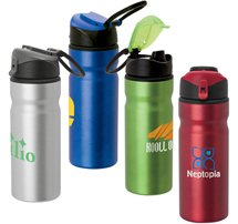 24 oz. Aluminum Water Bottle with Carry Loop