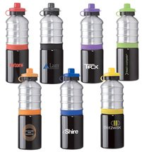 25 oz. Ribbed Aluminum Water Bottles
