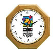 Octagonal Wood Wall Clocks