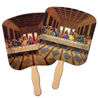 Last Supper Stock Design Church Hand Fans