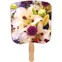 Lilly Bouquet Stock Design Religious Hand Fans