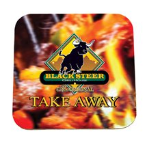"3.75"" Square Full Color Pulpboard Coasters, 55 pt."