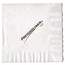 3-Ply White Foil Stamped Beverage Napkins