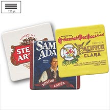 "3.5"" Sq. 125 pt. Heavyweight Full Color Pulpboard Coasters"