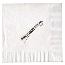 3-Ply White Luncheon Napkin, Foil Stamped