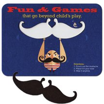 Medium Weight Mustache Pop-Out Coasters