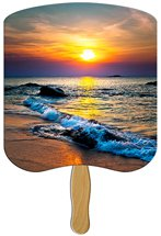 Sunset Religious Stock Design Hand Fans