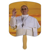 Pope Francis Stock Design Church Hand Fans