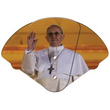 Expandable Pope Francis Stock Design Church Hand Fans