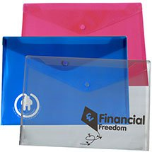 "48 Hour Rush 13"" x 9-1/4"" Plastic Envelopes with Snap Closure"