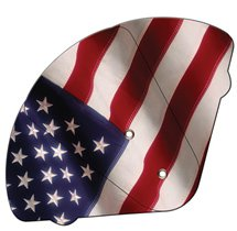 Expandable Four Part American Flag Hand Fans