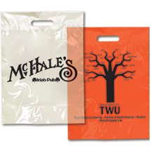 "9"" x 13"" Die Cut Colored Take Home Bags"