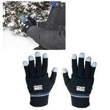 Acrylic Touch Screen Gloves with Glove Covers