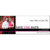 "Save The Date Magnets, Rectangle 2"" x 5.5"""