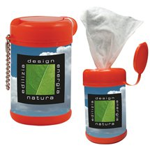 Antibacterial Wet Wipes in Colored Canisters