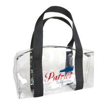 "12"" x 6"" x 8"" Clear Barrel Stadium Bags"