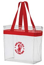 "12"" x 12"" x 6"" Clear Stadium Tote Bags"