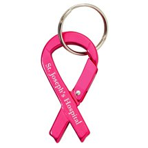 Pink Ribbon Carabiner Key Chains