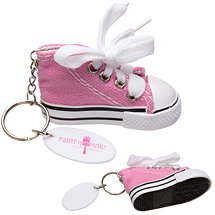 125 Custom Pink Classic Hi-Top Key Chains