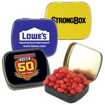 Small Rectangle Candy Tins
