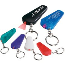 150 Custom Whistle Key Chain with Light