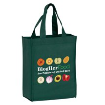 "8"" x 10"" Full Color Non-Woven Book Tote Bags, 4"" Gusset"
