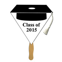Hat Tassel Black Graduation Hand Fans