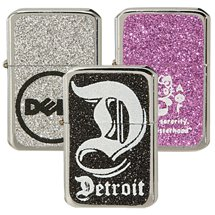Glitter Oil Flip Top Lighters