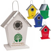 Wood and Metal Bird Houses