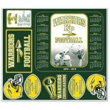 "11"" x 12-1/2"" Repositionable Label Football Sheets"
