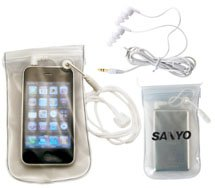 MP3/iPod Waterproof Case with Earbuds