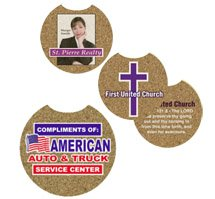 125 Custom Full Color Cork Car Coasters