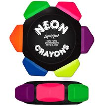 Neon Six Color Crayon Wheel