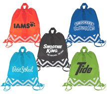 Zig Zag Drawstring Backpacks