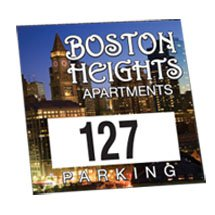 "3"" x 3"" Full Color Outside Square Parking Permits w/ Numbering"