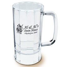 14 oz. Clear Styrene Beer Mugs
