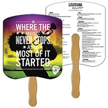 Full Color Econo Bread Slice Hand Fans