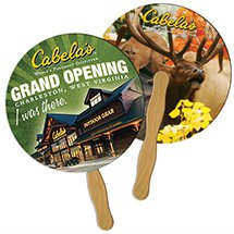 Full Color Econo Circle Hand Fans
