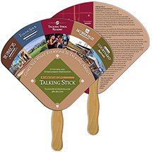 Full Color Econo Seashell Hand Fans