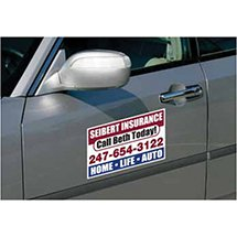"11-3/4"" x 7-1/8"" Full Color Rectangle Car Sign Magnets"