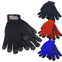 25 Custom Texting Gloves with Customized Woven Patch