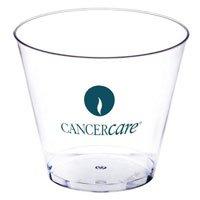 100 Custom 5 oz. Short Clear Plastic Cups (Screen Printed)