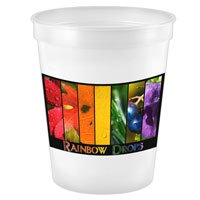 500 Custom 16 oz. Full Color White Stadium Cups