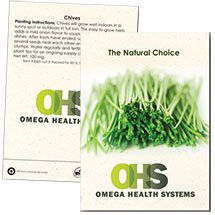 100 Custom Chives Seed Packets