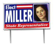 "34.5"" x 21"" Double-Sided Glued Yard Signs"