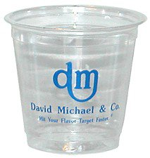 3.5 oz. Soft Sided Clear Cups (Screen Printed)